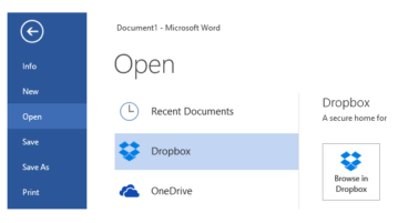 save files from ms word, excel, and powerpoint to dropbox