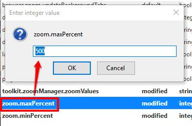 set max zoom value