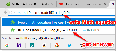 solve math equation directly in address bar of firefox
