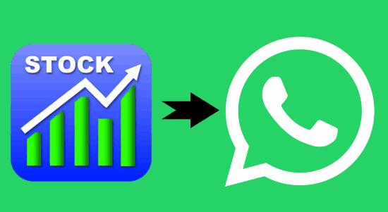 stock quotes on whatsapp