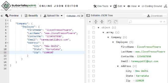 5 Free Online JSON Editor Websites