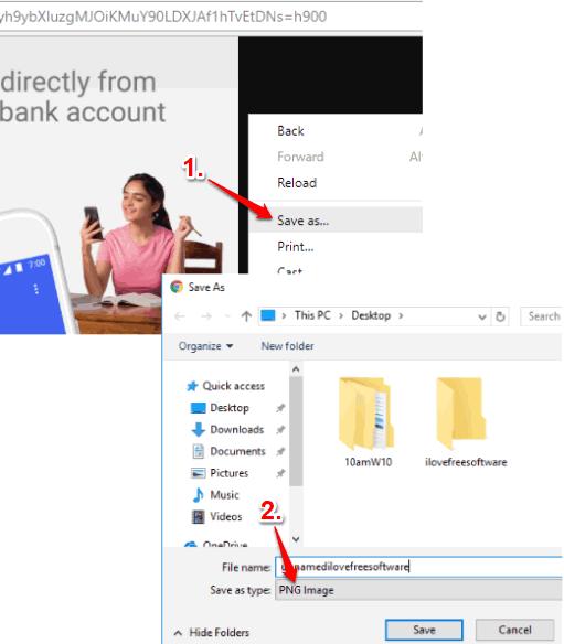 use save as context menu option