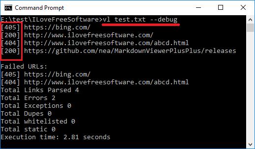vl bulk check http status codes