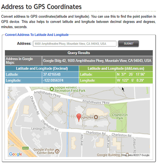 geocoding website