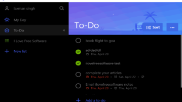 Ao- unofficial desktop client for Microsoft To-Do