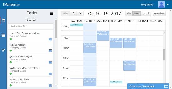 Calendar with Task Manager & Google Calendar, Trello Integration