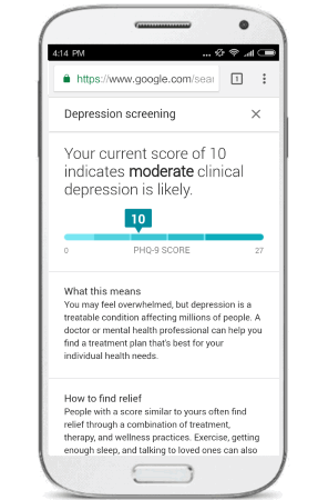 Clinical depression tool phq-9 report