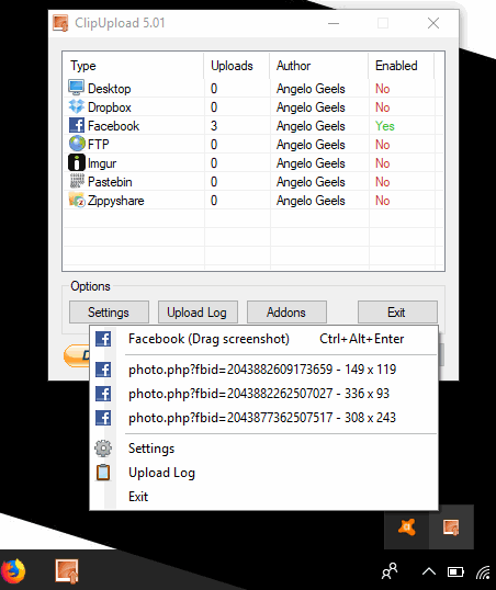 ClipUpload- interface