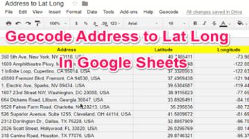 geocode address to lat long in google sheets