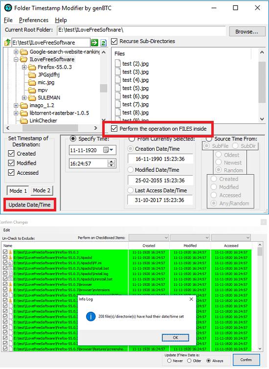 Folder Timestamp Modifier in bulk
