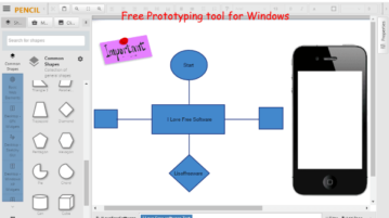 Free Open Source Prototyping Tool for Windows Pencil