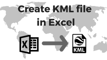 how to create kml file from excel file in ms excel