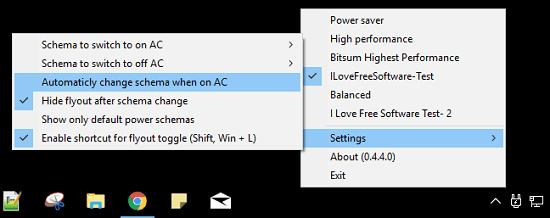 PowerSwicther settings