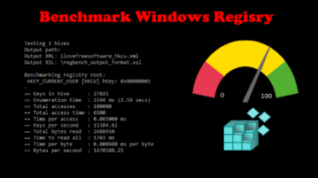 Registry Benchmark Tool for Windows RegBench