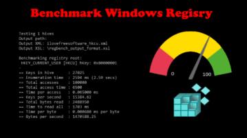 Registry Benchmark Tool for Windows RegBench