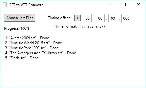 SRT to VTT Converter Software for Windows