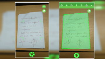 Scan Hand Written Notes and Documents on Android