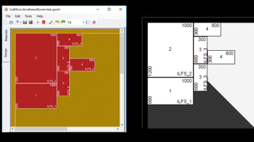 Software to Design Rectangular Regions for Cutting of Wood, Glass