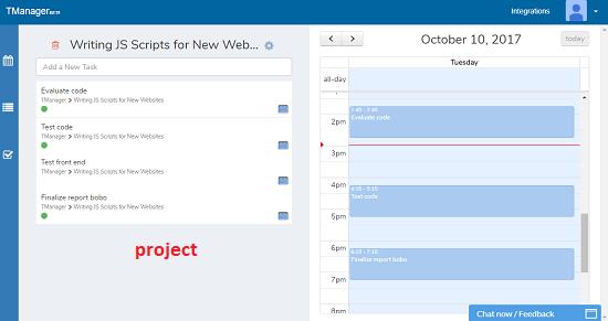 Tmanager prject tasks