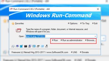 Windows Run Dialog Alternative to Run Programs as Administrator