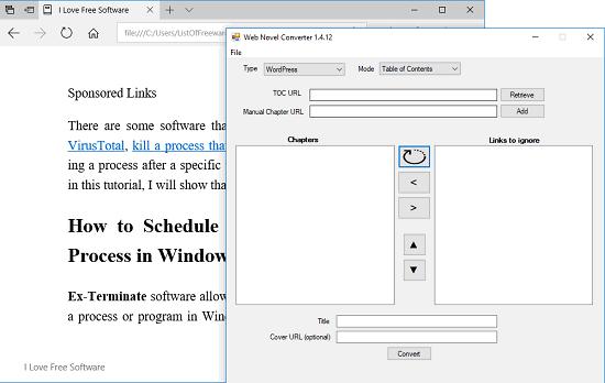 WordPress to EPUB Converter Software
