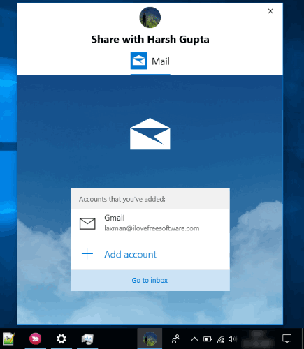 connect mail app and select an email account