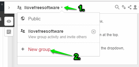 create a group and invite others
