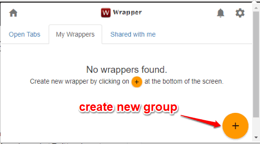 create group to add tabs