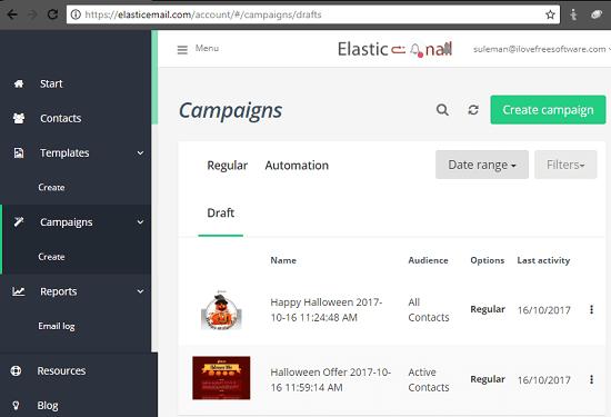elastic email
