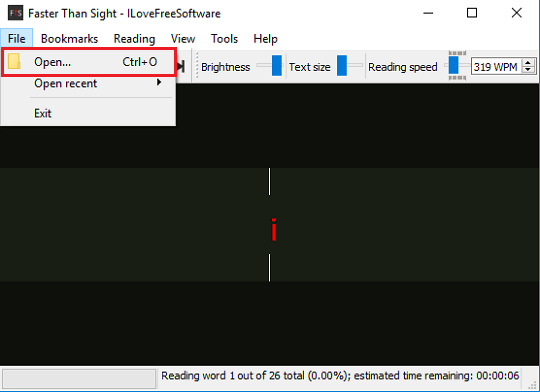 faster than sight interface