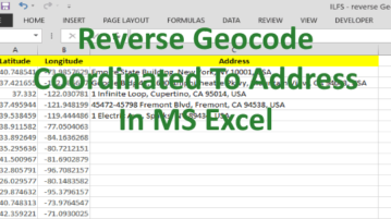 how to reverse geocode coordinates to address in ms excel