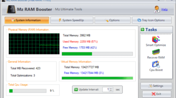 free RAM booster software for Windows to speed up your pc