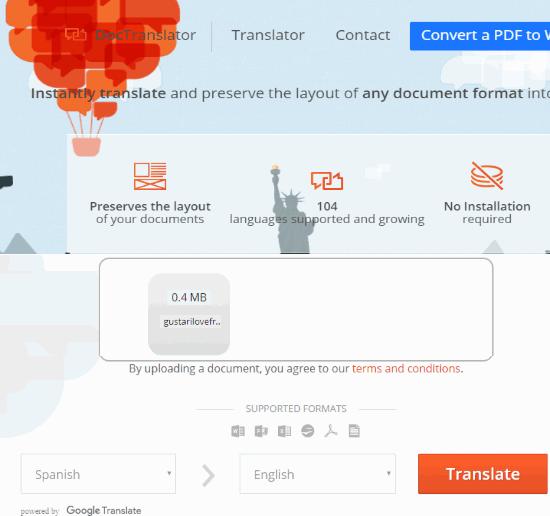 free online document translator
