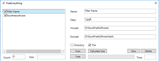 freeeverything specify feilds