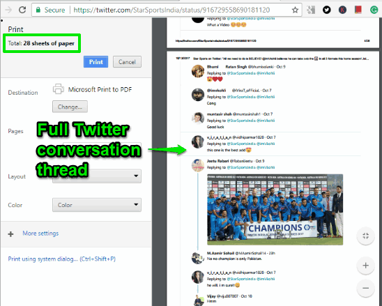 full twitter conversation thread is ready to save as pdf