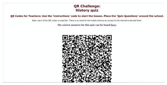 QR Code Treasure Hunt For Students