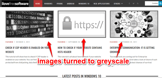 images turned to greyscale