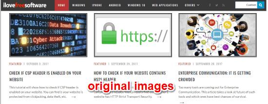 original images