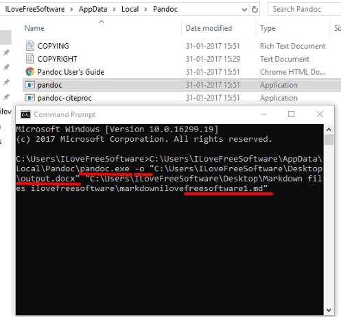 pandoc command line converter tool