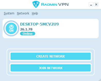 radmin vpn interface