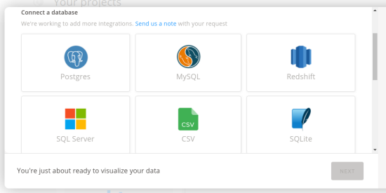reflect io connect to a database