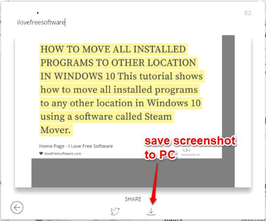 save screenshot to pc