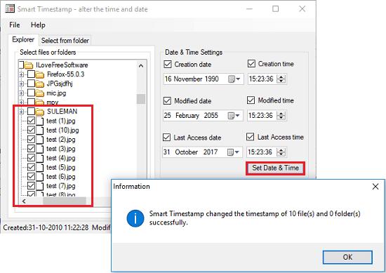 smart timestamp bulk change file timestamp