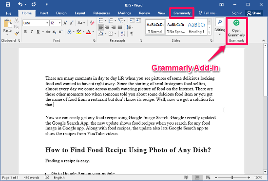 Top Free Grammar Check Plugins For MS Word