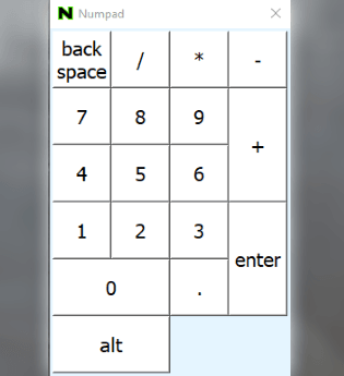 4 Free Virtual Numpad Software for Windows