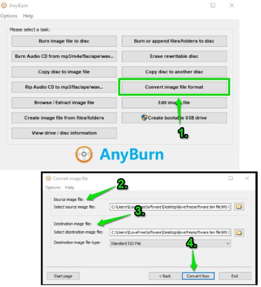 AnyBurn- interface