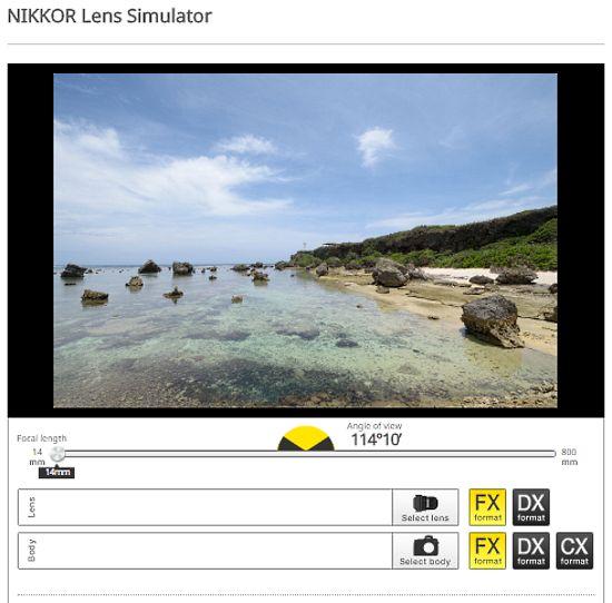 nikon camera simulator