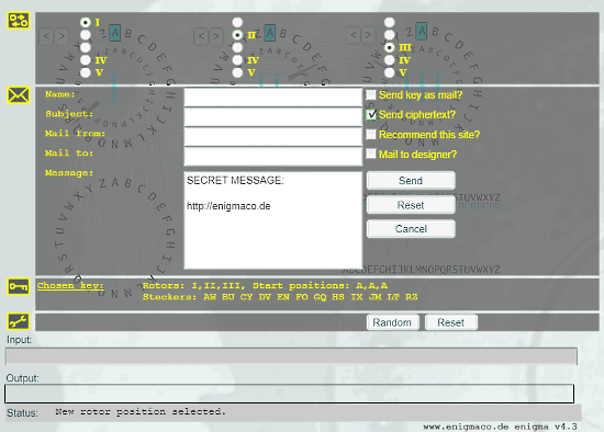 simulate enigma machine