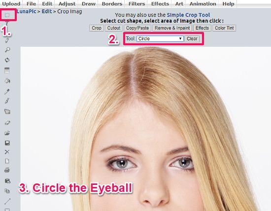 change eye color online