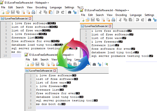 Free DOS to Unix, Unix to MAC Line Endings Converter Software EOL